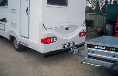 Towbar with full width steel bumper on this autocruise Starfire