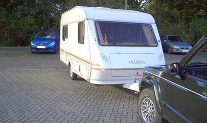 Parking Caravan with Front Push Towbar