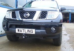 Front push towbar on a Navara