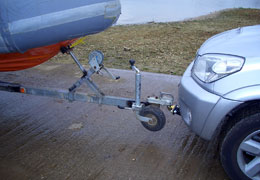 Front push towbar close up