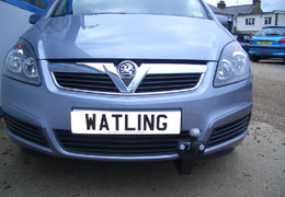 Front push towbar on a Zafira
